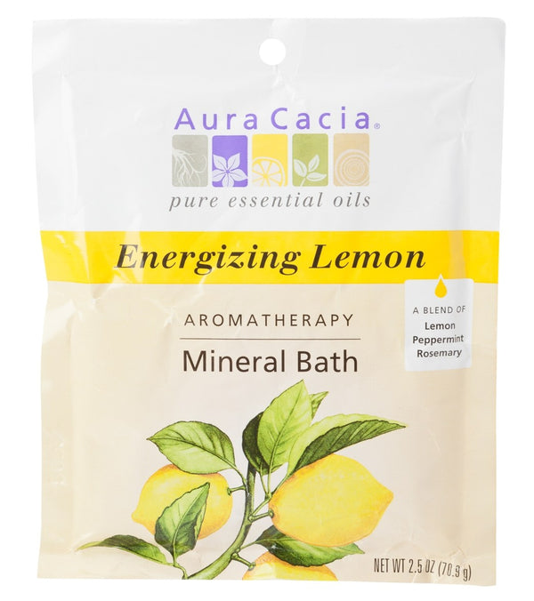 Aura Cacia Energizing Lemon Mineral Bath, 2.5oz