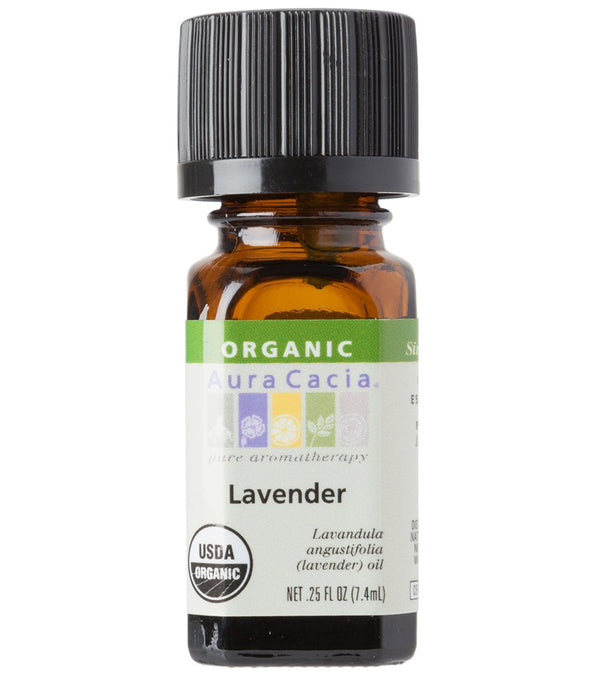 Aura Cacia Lavender Certified Organic 100% Pure Essential Oil - 0.5 oz