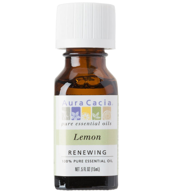 Aura Cacia Lemon 100% Pure Essental Oil - 0.5 oz