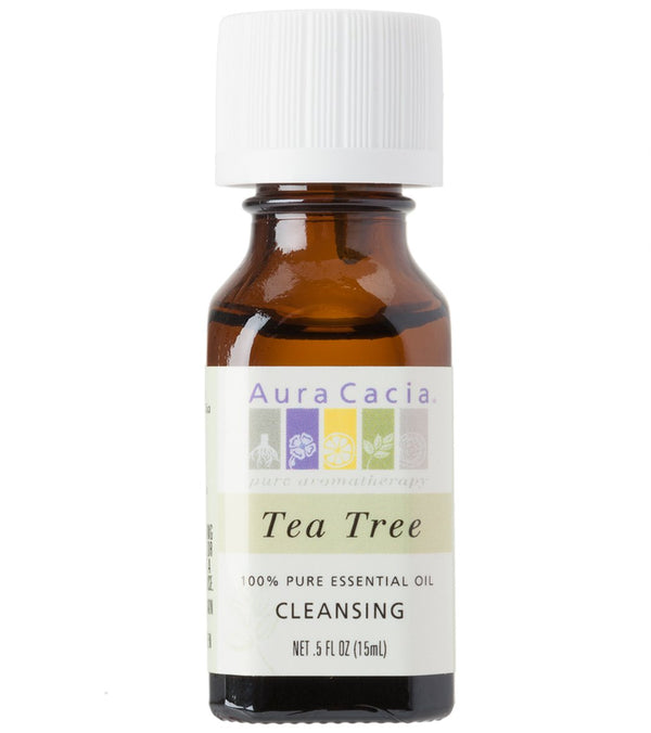 Aura Cacia Tea Tree 100% Pure Essential Oil - 0.5 oz