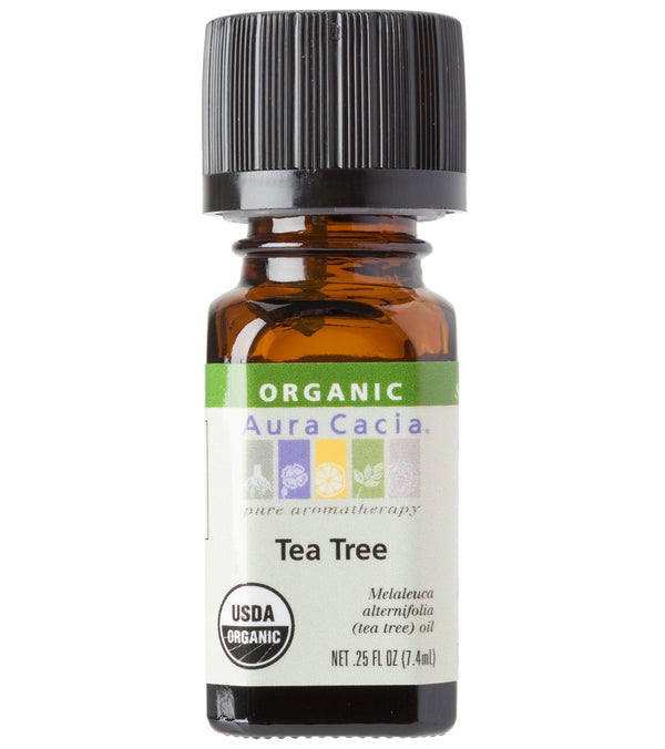 Aura Cacia Tea Tree Certified Organic 100% Pure Essential Oil - 0.25%
