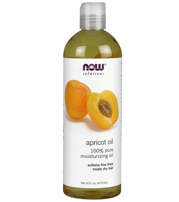 NOW 100% Pure Apricot Oil, Expeller Pressed, Mosturizing Oil 16 oz