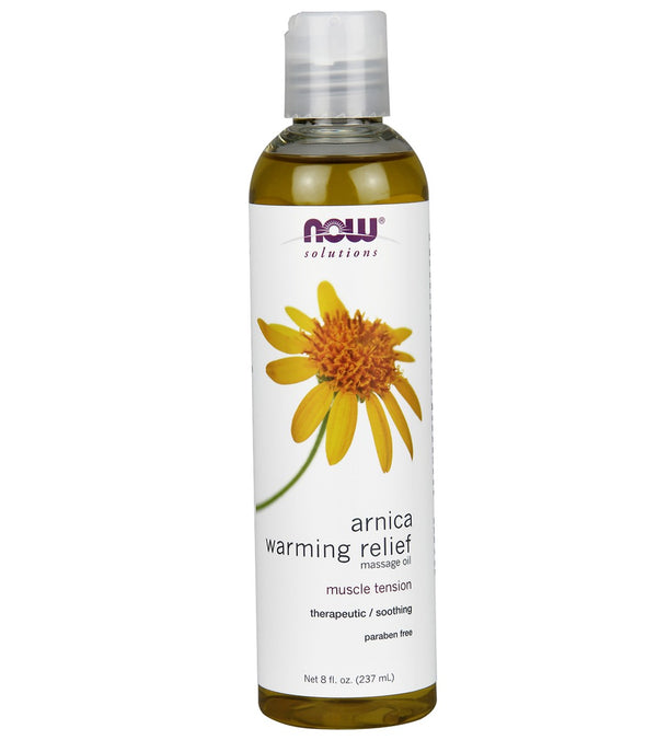 NOW Arnica Warming Massage Oil 8 oz