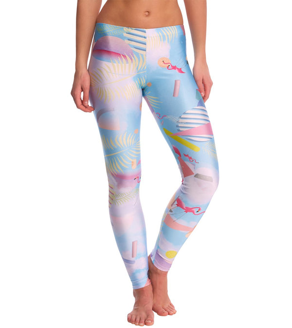 Poprageous Miami Netscape Yoga Leggings - XS