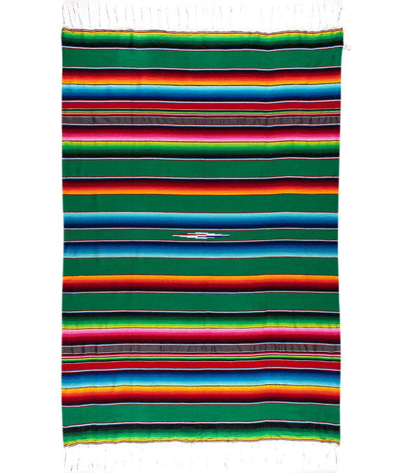 Native Yoga Large Mexican Serape Blanket