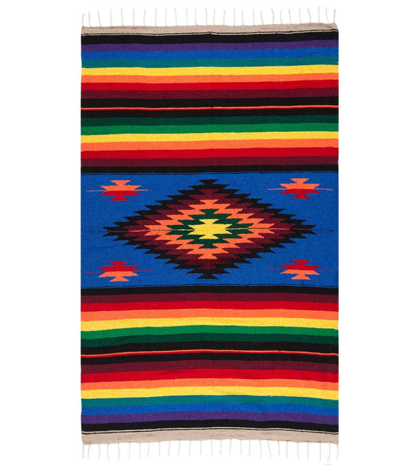 Native Yoga Super Diamond Mexican Yoga Blanket (Colors May Vary)