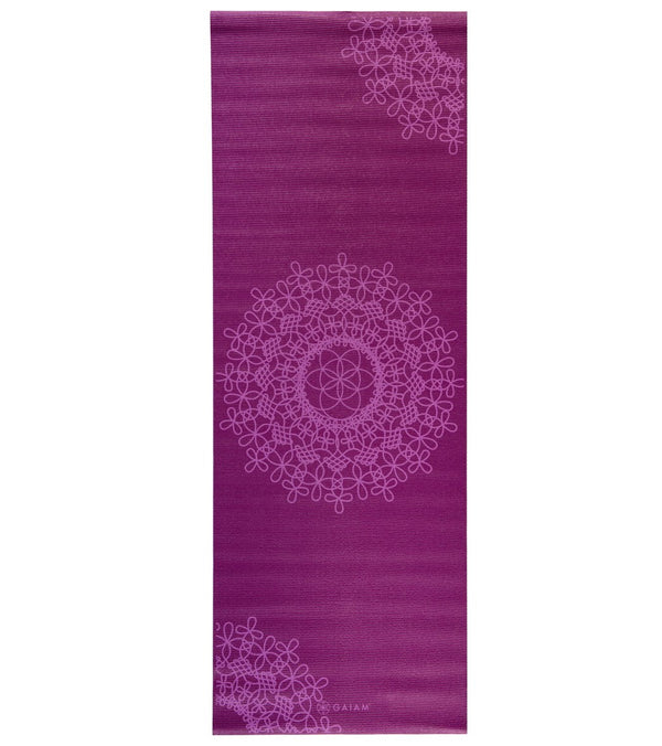 "Gaiam Purple Medallion Classic Yoga Mat 68"" 3mm"
