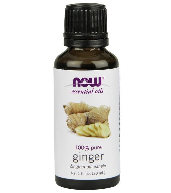NOW 100% Pure Ginger Essential Oil 1 oz