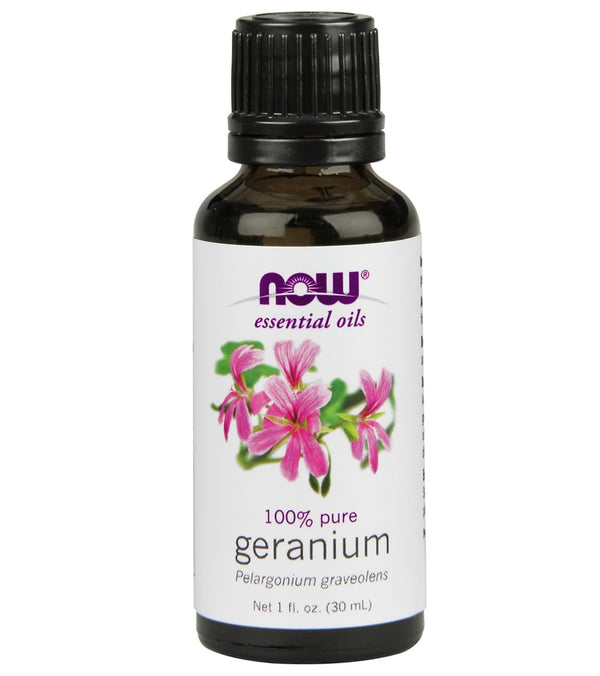 NOW 100% Pure Geranium Essential Oil 1 oz