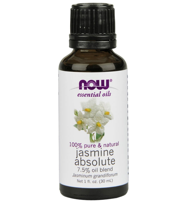 NOW 100% Pure & Natural Jasmine Absolute 7.5% Oil Blend 1 oz