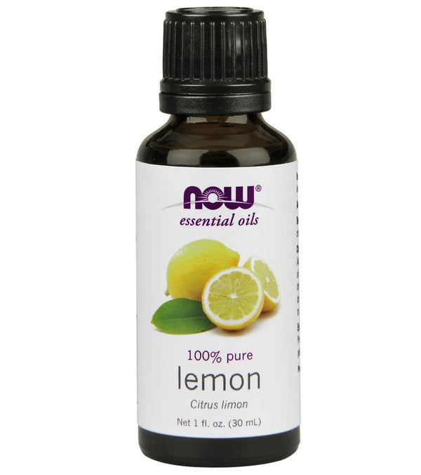 NOW 100% Pure Lemon Essential Oil 1 oz
