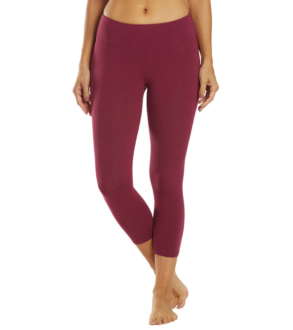 Hard Tail Flat Waisted Cotton Yoga Capris