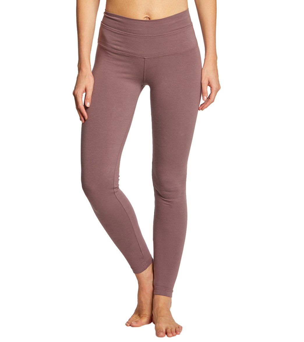 Hard Tail High Waisted Cotton Ankle Yoga Leggings - Nightshade