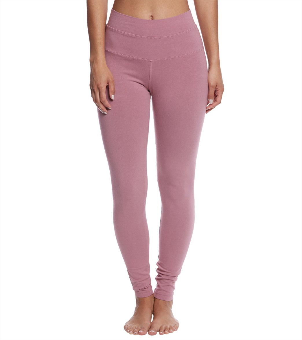 Hard Tail High Waisted Cotton Ankle Yoga Leggings - Dusty Rose