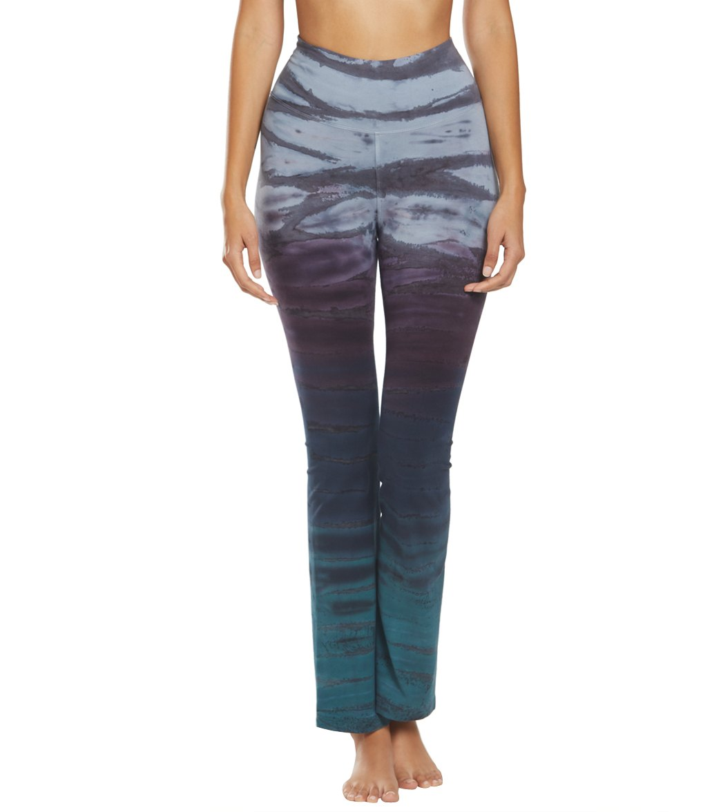 Hard Tail Rolldown Bootleg Cotton Flare Pant at YogaOutlet com
