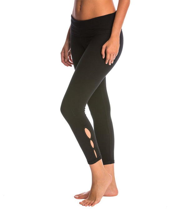 Hard Tail Contour Rolldown Cropped Cotton Yoga Leggings