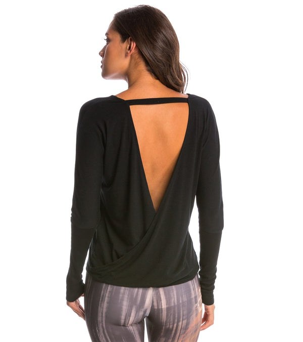 Onzie Drapey V-back Long Sleeve Coverup