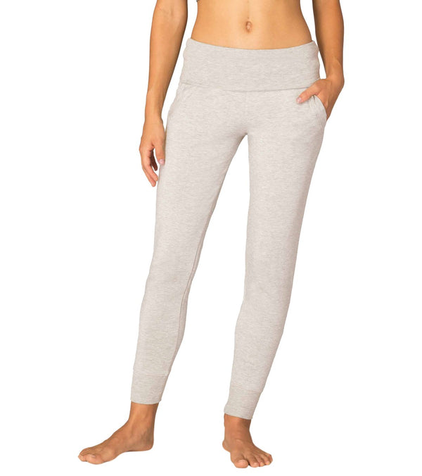 Beyond Yoga Cozy Fleece Foldover Long Sweatpant Joggers