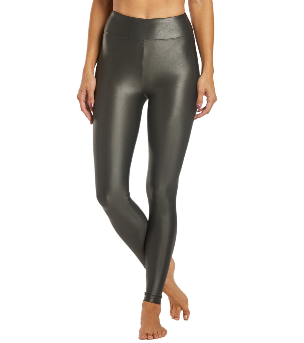 KORAL Lustrous High Rise Yoga Leggings - Agave Spandex