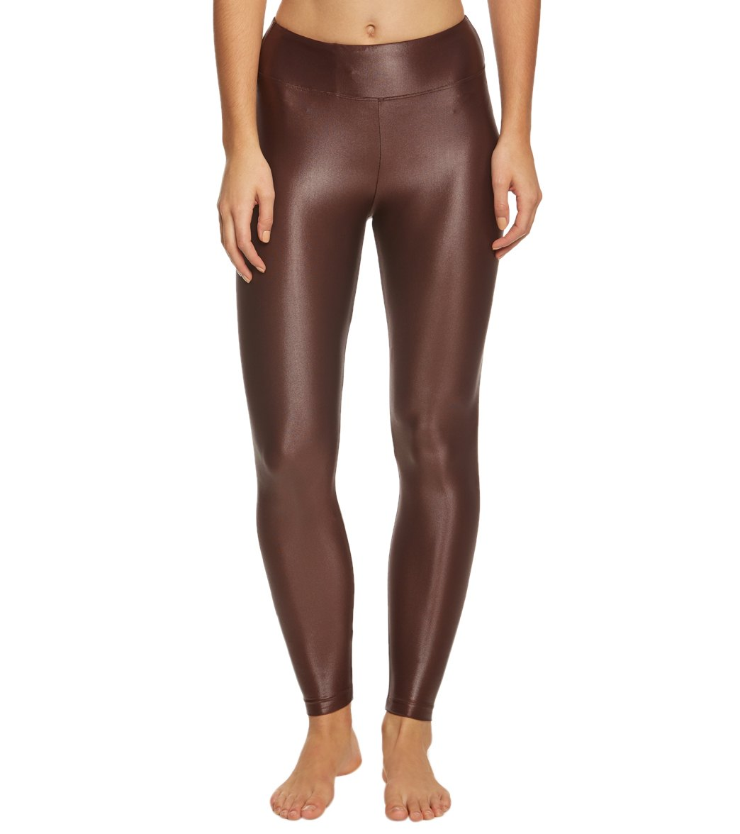 KORAL Lustrous High Rise Yoga Leggings - Bordeaux Spandex