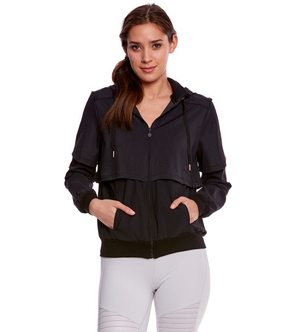 Beyond Yoga Picture Perforated After Workout Jacket