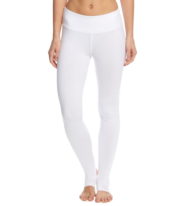 Hard Tail Flat Waist Cotton Stirrup Legging