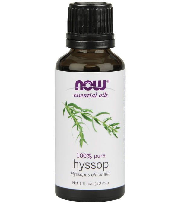 NOW 100% Pure Hyssop Oil 1 oz