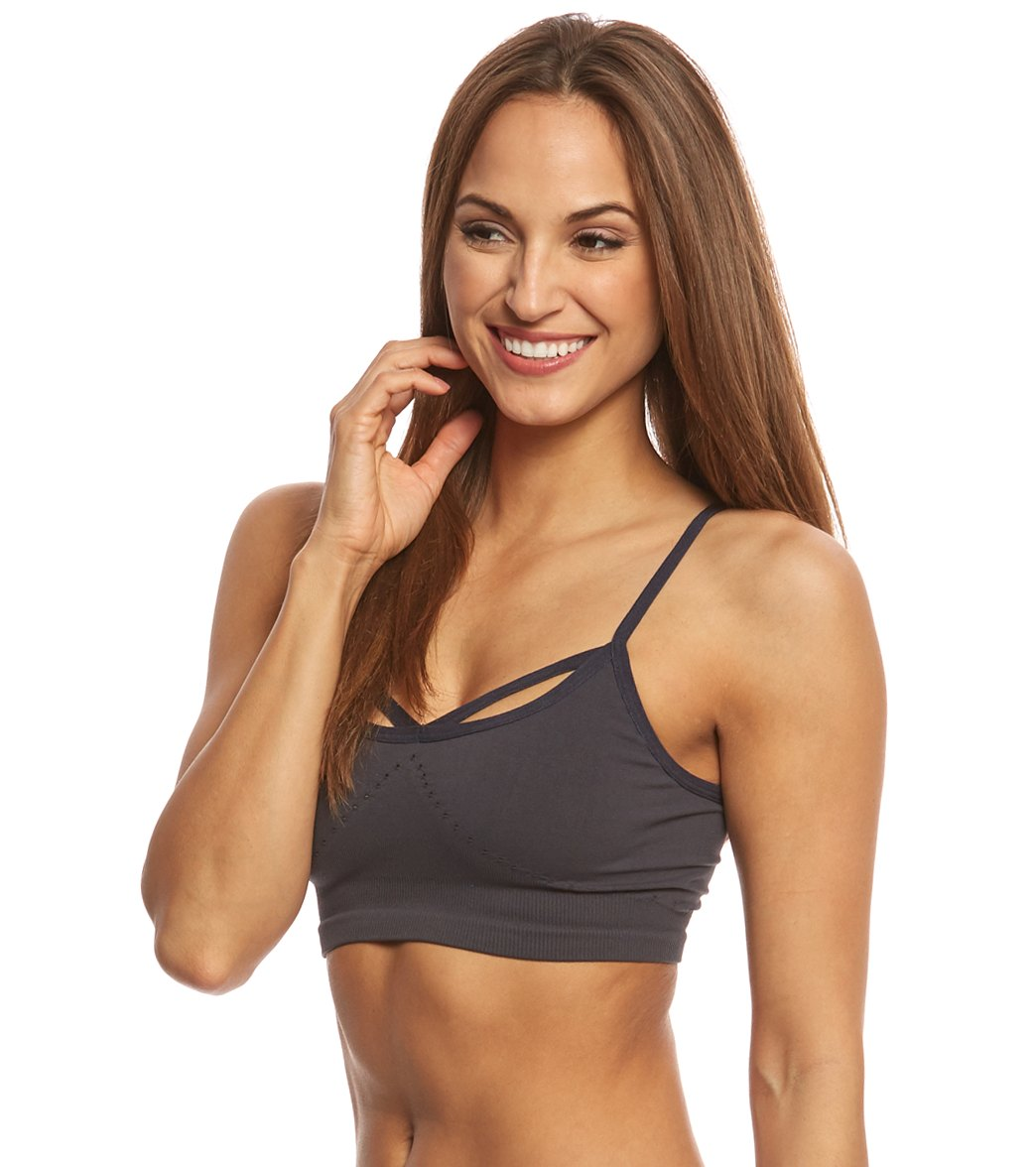 New Free People Movement Activewear Barely There Seamless Yoga Sports Bra $48