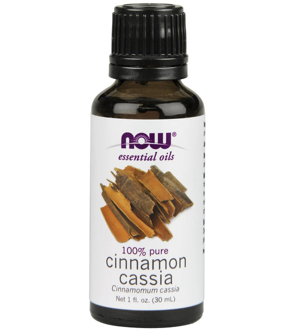 NOW 100% Pure Cinnamon Cassia Oil 1 oz