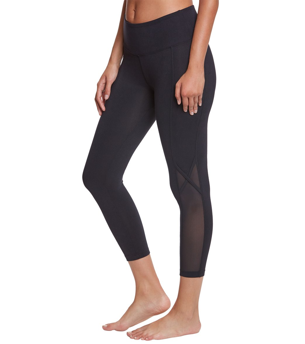 5bf1f4fb923b43 Balance Collection Britney High Waisted Yoga Capris at YogaOutlet.com -  Free Shipping