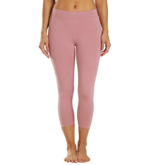 Hard Tail High Rise Cotton Yoga Capris