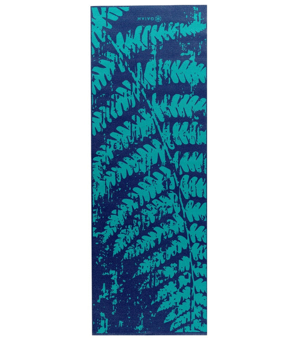 "Gaiam Midnight Fern Printed Yoga Mat 68"" 4mm"
