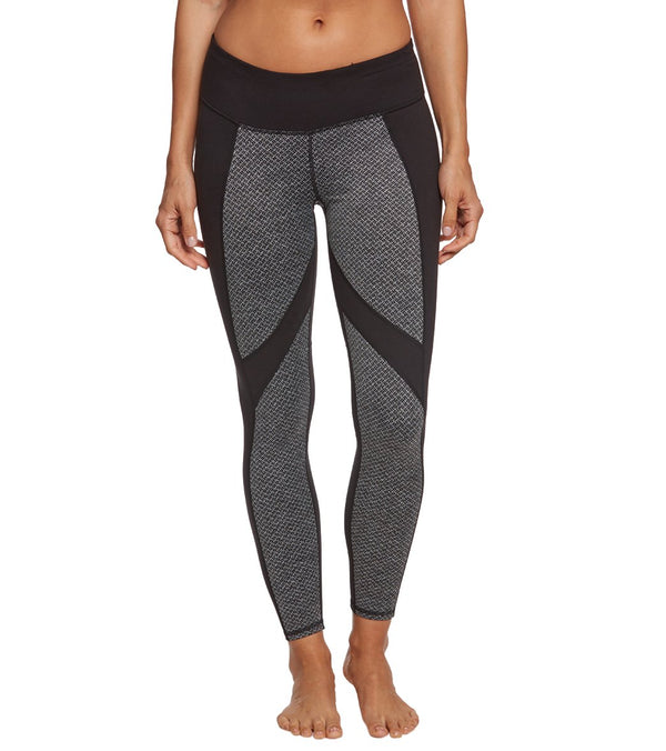 Betsey Johnson Texture Blocked Ankle Yoga Leggings