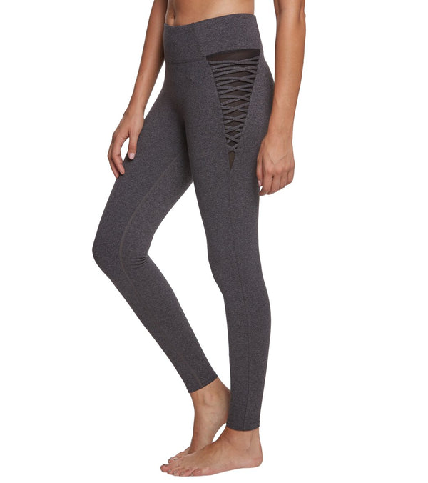 Betsey Johnson Criss Cross Hip Insert Ankle Yoga Leggings