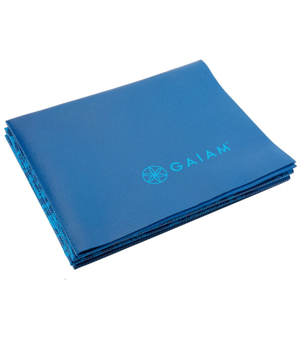 "Gaiam Foldable Blue Sundial Printed Yoga Mat 68"" 2mm"