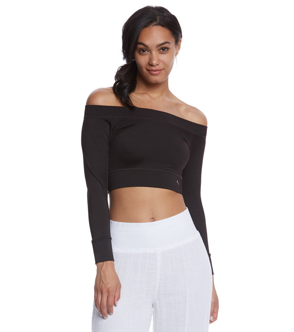 Mika Yoga Wear Chloe Tie Back Crop Long Sleeve