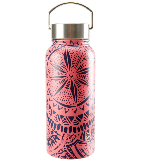 Gaiam Medallion Print Wide Mouth Stainless Steel Water Bottle (32oz)