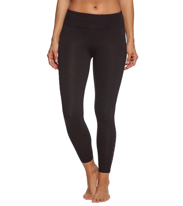 Betsey Johnson Infinity Loop Thigh Cutout Cotton Yoga Leggings