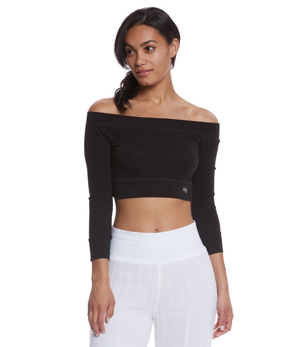 Mika Yoga Wear Chloe Cotton Crop Long Sleeve