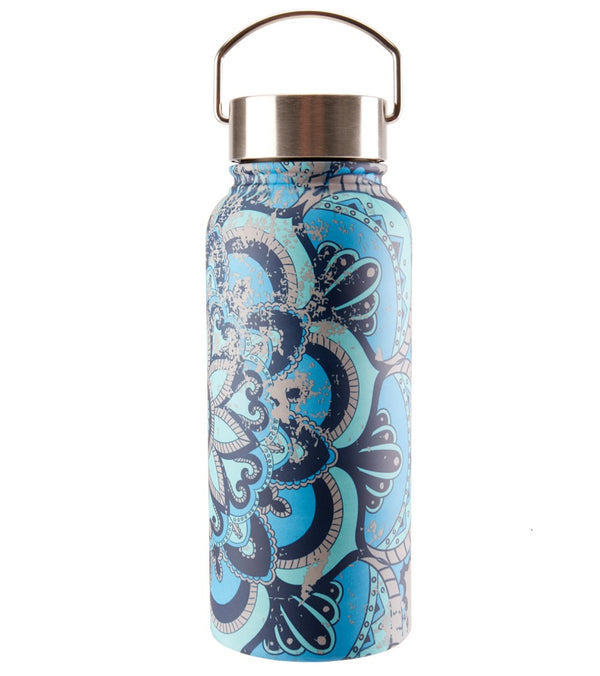 Gaiam Madeira Print Wide Mouth Stainless Steel Water Bottle (32oz)