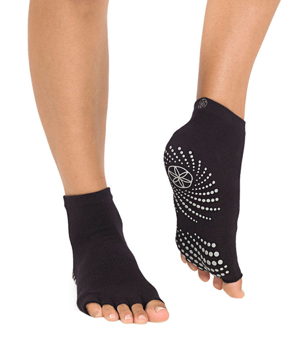 Gaiam Toeless Grippy Yoga Socks S/M
