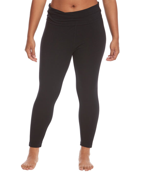 Hard Tail Plus Size Rolldown Layering Cotton Yoga Leggings