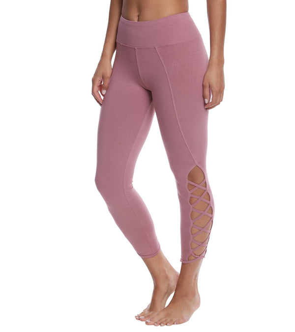 Hard Tail X Side Ankle Cotton Yoga Leggings