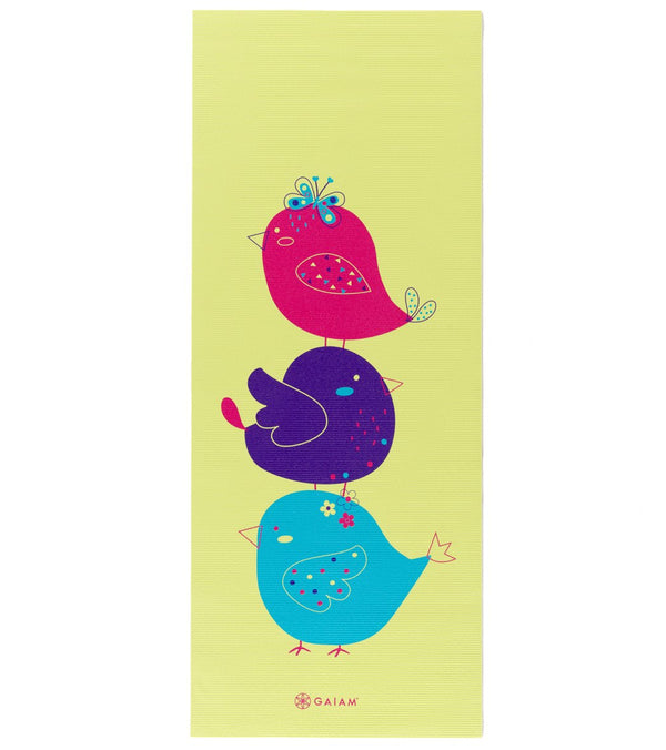"Gaiam Kid's Birdsong Yoga Mat 60"" 4mm"
