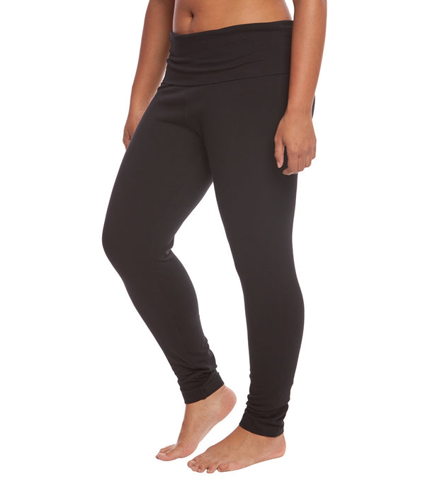 Hard Tail Plus Size Contour Rolldown Cotton Yoga Leggings