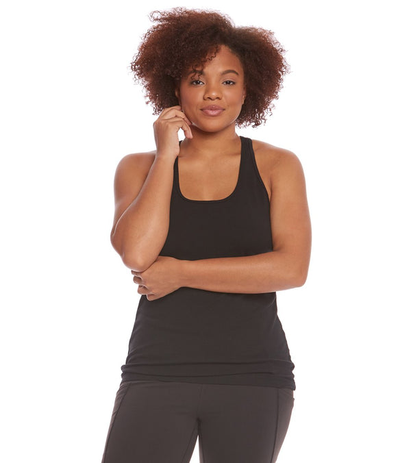Hard Tail Plus Size U Scoop Yoga Tank Top