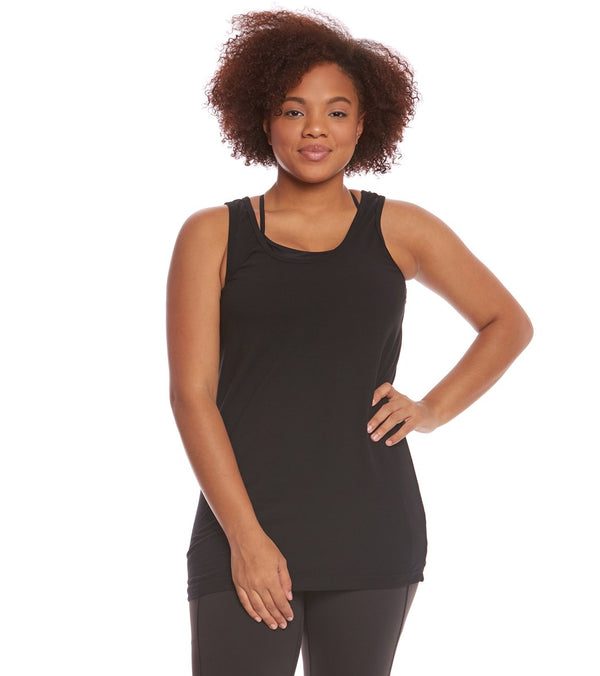 Hard Tail Plus Size Long Skinny Yoga Tank Top