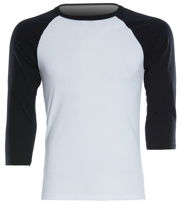 Bella + Canvas Men's 3/4 Sleeve Baseball Tee