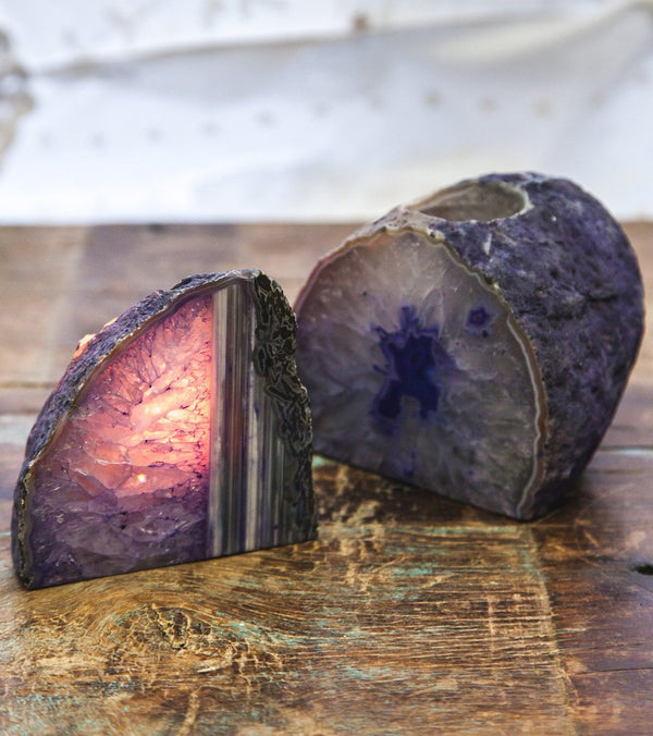 SoulMakes Agate Geode Candle Holder