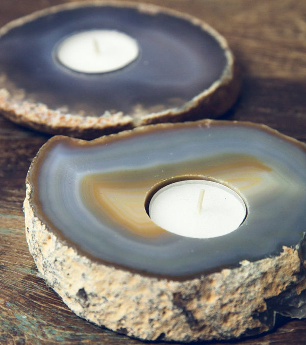 SoulMakes Agate Slab Candle Holder